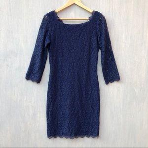NWT Diane Von Furstenberg Zarita lace dress 8